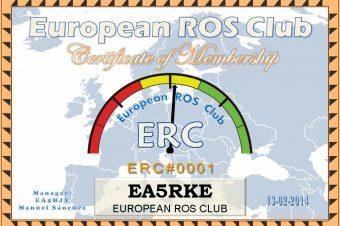 Nuevo Indicativo de European ROS Club