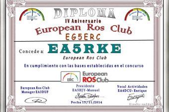 DIPLOMA IV ANIVERSARIO DE EUROPEANROSCLUB