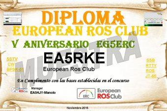 V Aniversario European Ros Club EG5ERC