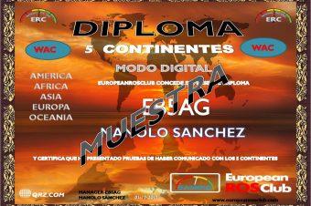 Diploma 5 Continentes del mundo