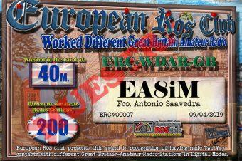 Diploma  ERC-WDAR-GB